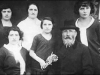 Kalman, Yosef's Grandfather, with Josef's Sisters, about 1914